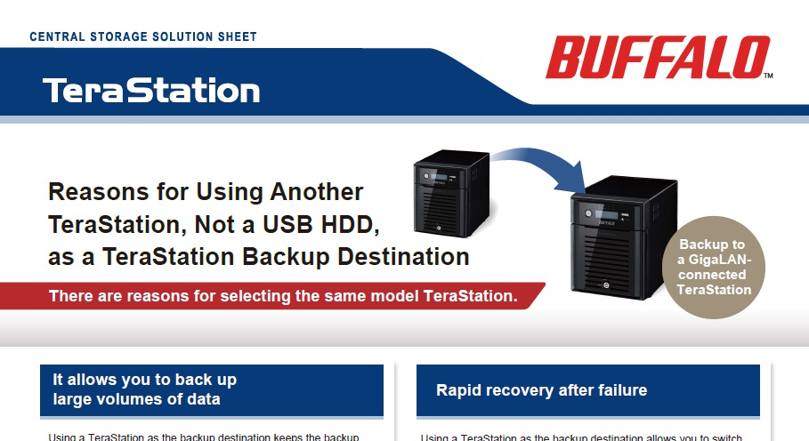 Backup to Another TeraStation